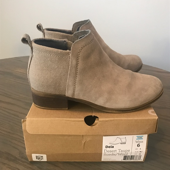 86b864acd47 TOMS • Deia booties in desert taupe